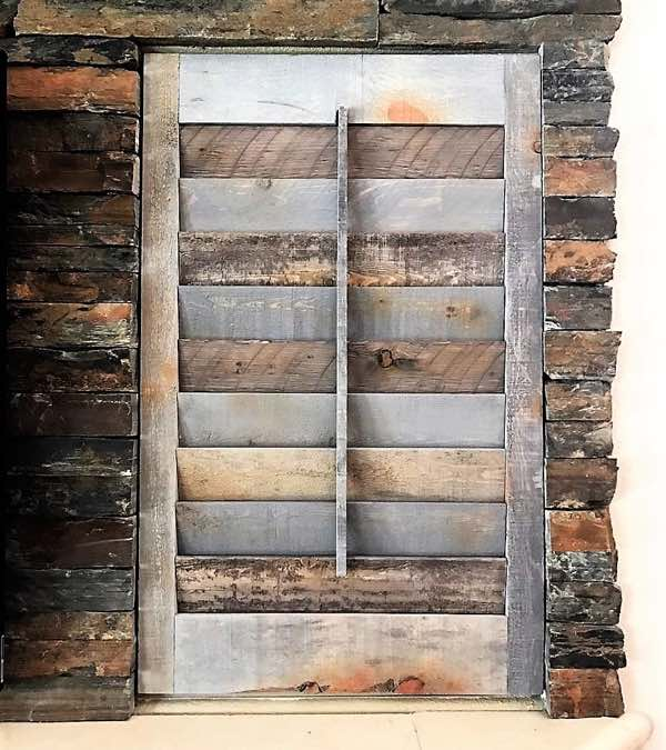 Southern California reclaimed wood shutter