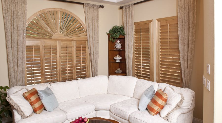Ovation Wood Shutters In Southern California Living Room
