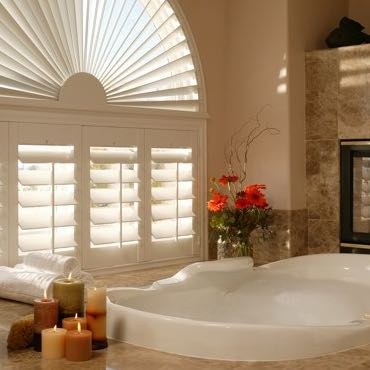 Southern California bathroom privacy shutters.