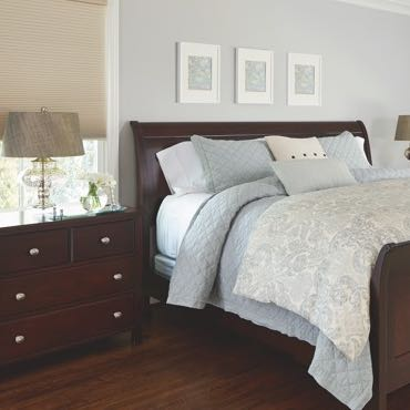 Southern California bedroom pull-down shades.