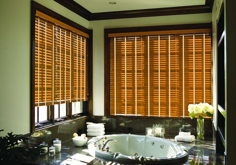 Southern California bathroom blinds