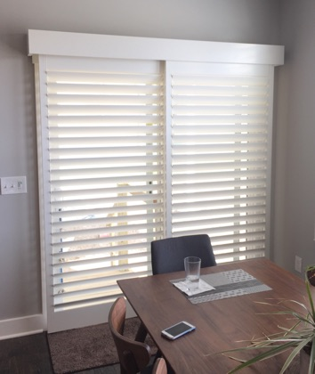 Southern California modern sliding door shutters