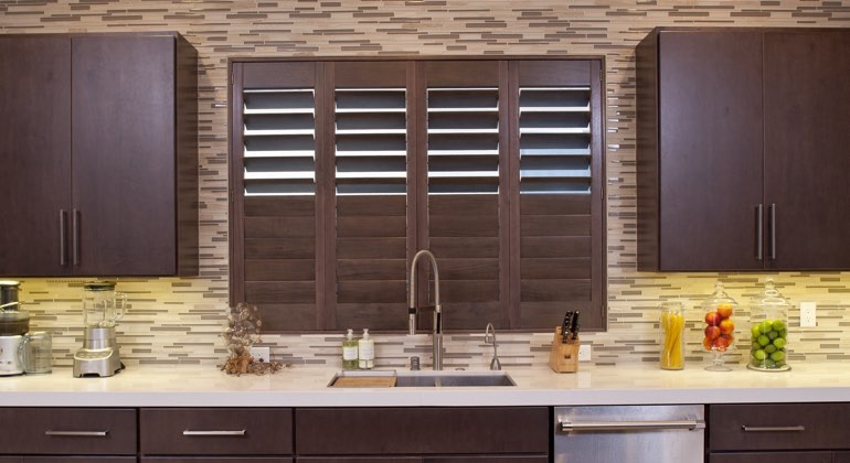 Southern California cafe kitchen shutters