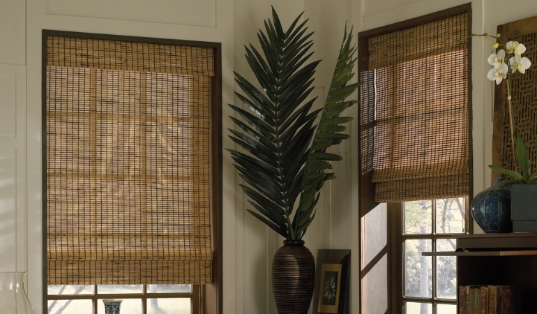 Camel woven shades in Southern California
