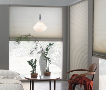 honeycomb shades in Southern California space
