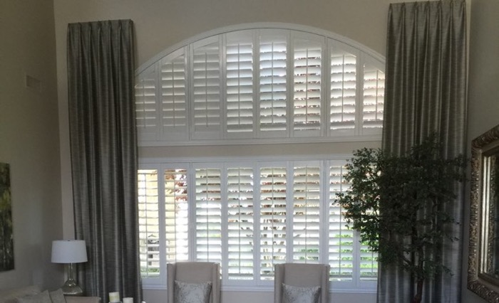 Southern California drapes and shutters.