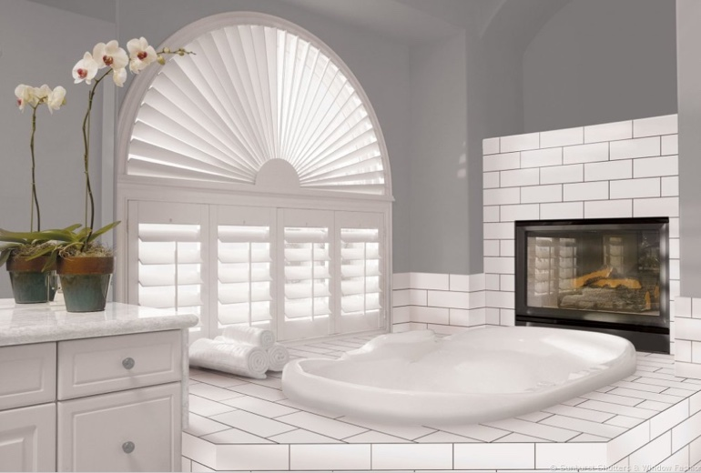 Southern California arched window