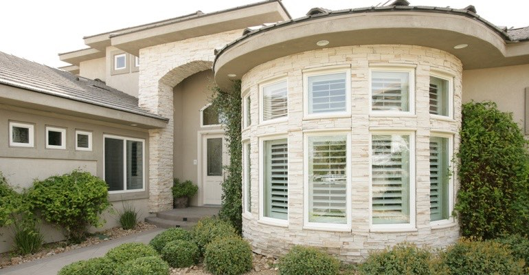 Exterior shutters Southern California home