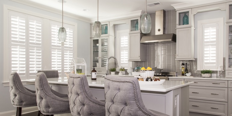Kitchen Window Treatment Ideas | Sunburst Shutters Southern Ca