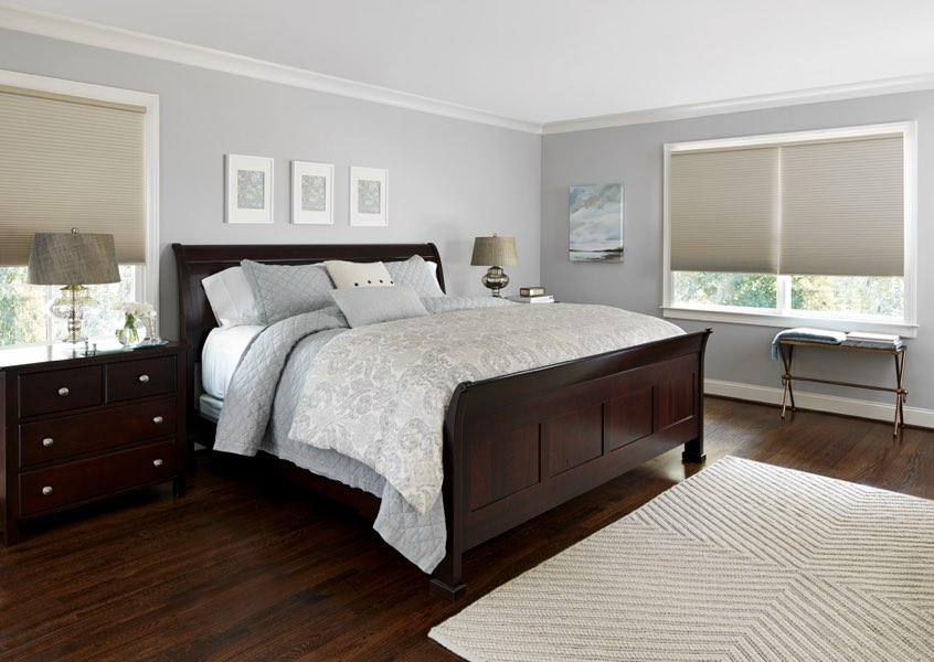Southern California blackout shades bedroom