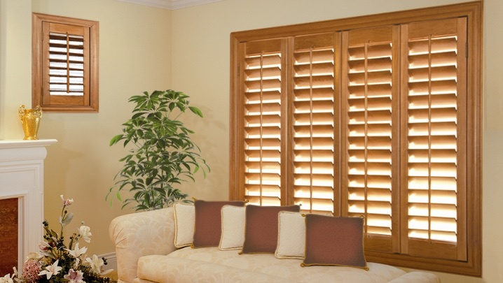 wood shutters Southern California parlor