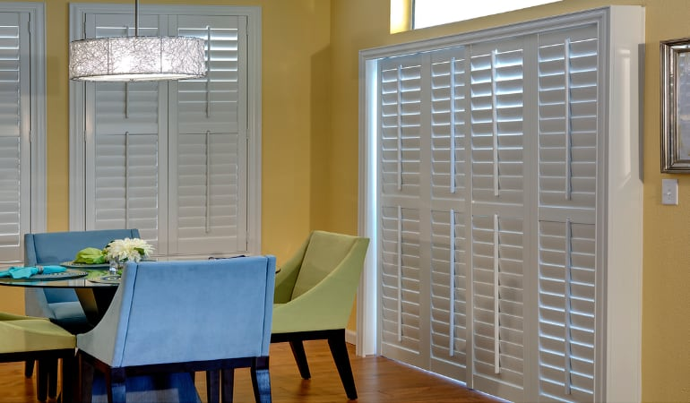 Patio Doors with Plantation Shutters in Southern California
