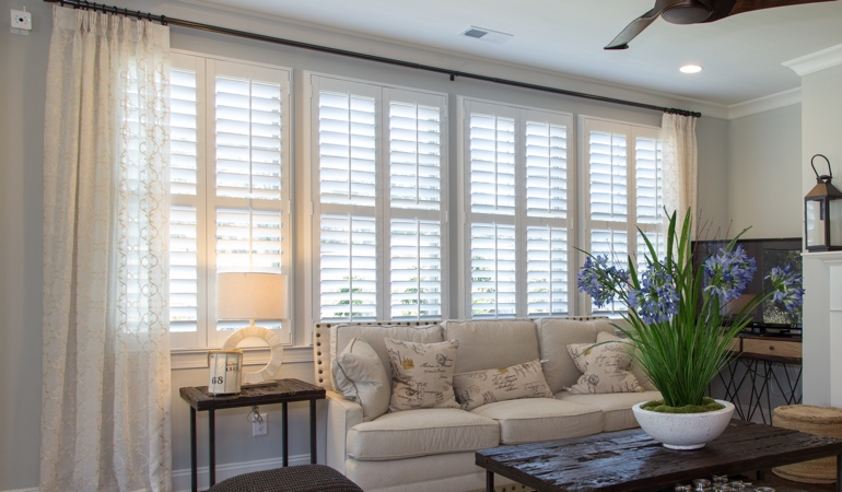 Plantation Shutters in Southern California Living Room