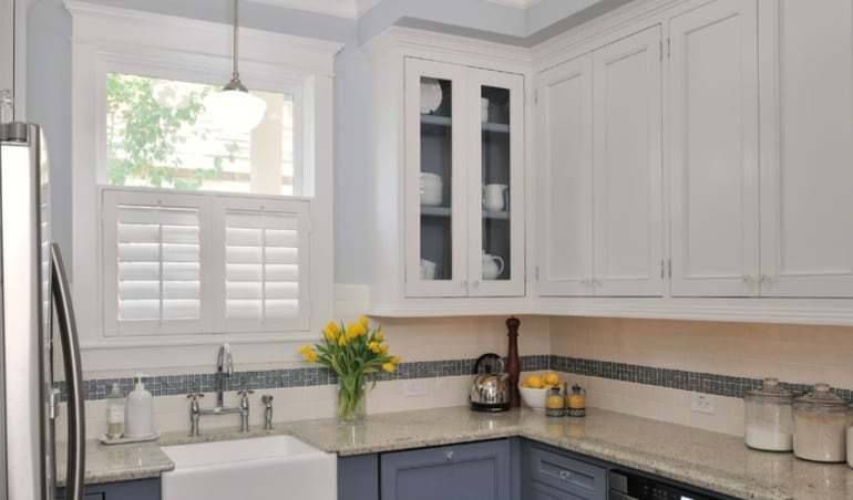 Polywood shutters in a Southern California kitchen.