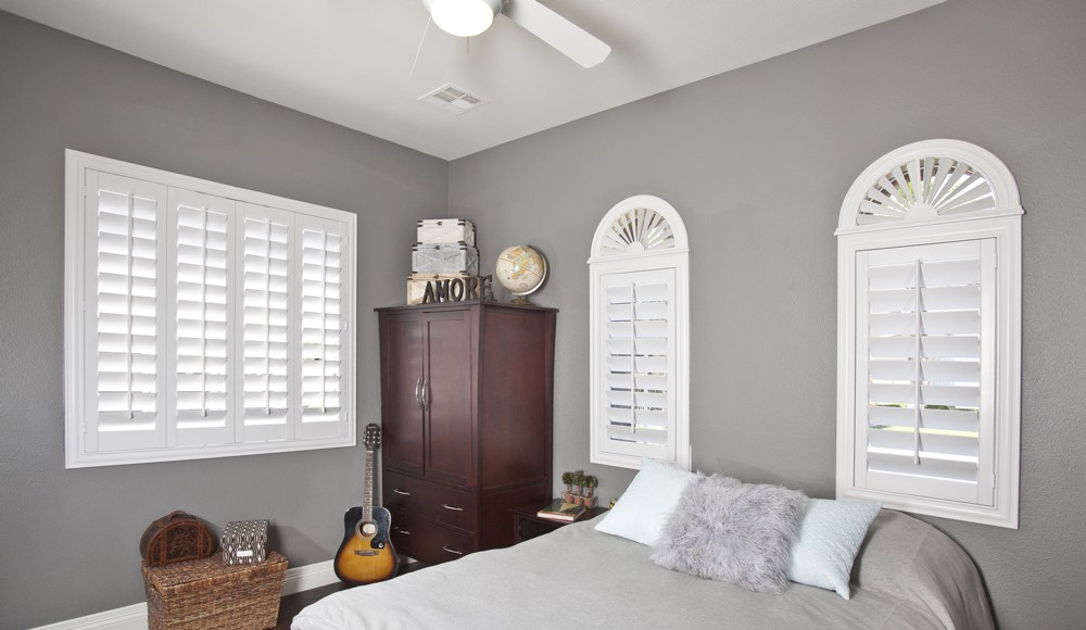 Polywood Shutters In A Southern California Bedroom