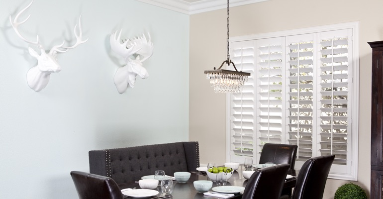 Southern California dining room shutters
