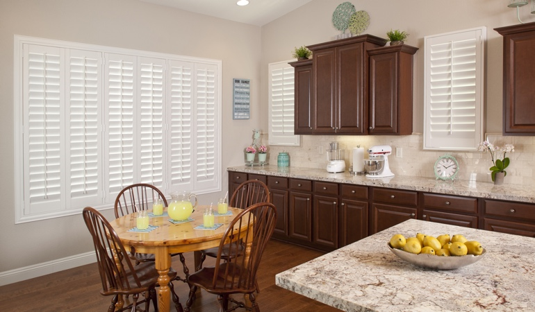 Polywood Shutters in Southern California kitchen