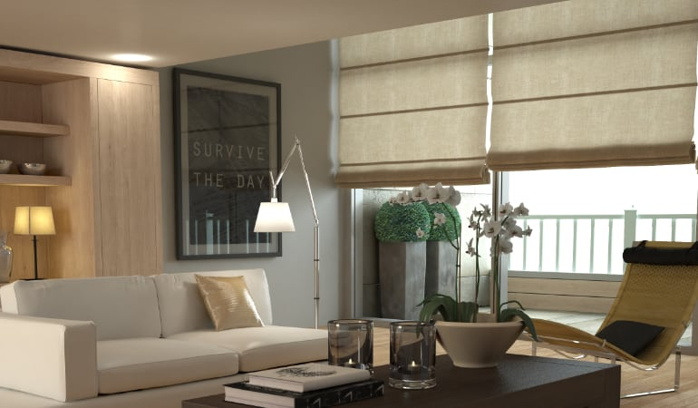 Roman shades in Southern California
