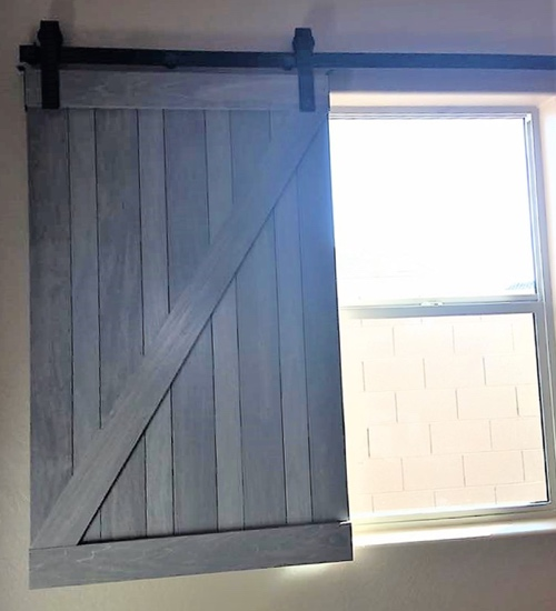wood barn door shutter