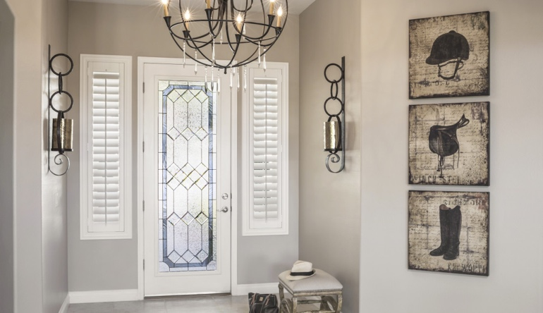 Southern California foyer shutters