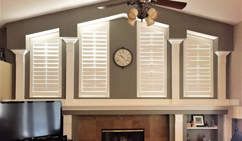 Polywood Shutters in Family Room in Southern California