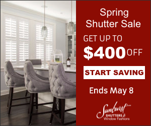 Sunburst Shutters Spring Sale Southern California