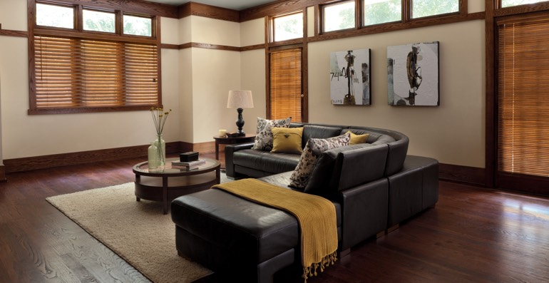 Southern California hardwood floor and blinds