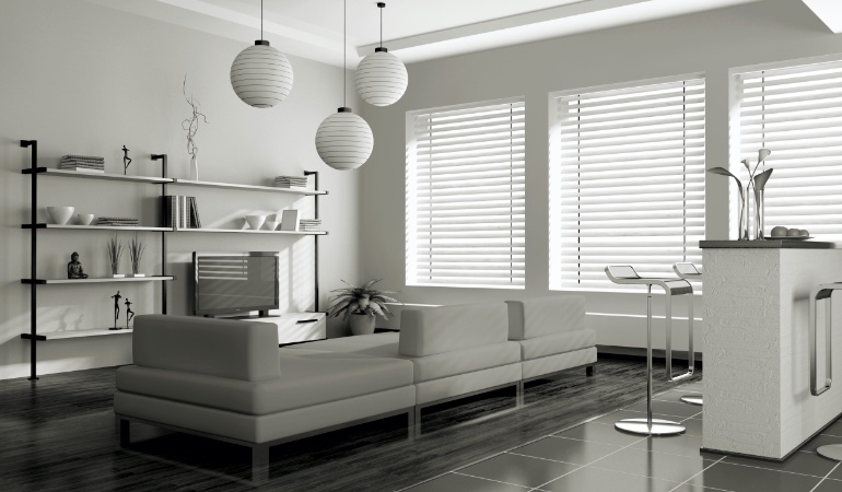 white blinds in Southern California