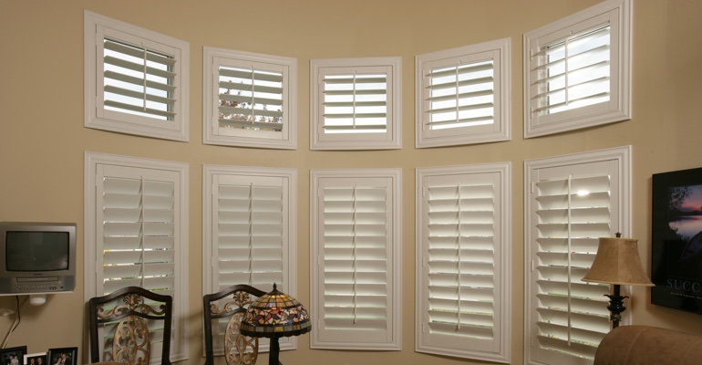 Bay Window Shutters Southern California Home Office