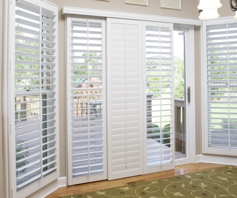 Sliding glass door shutters in southern california sunburst california patio door shutters planetlyrics Choice Image