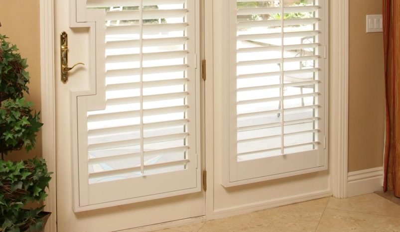 French Door Shutters. Square Handle Cutout