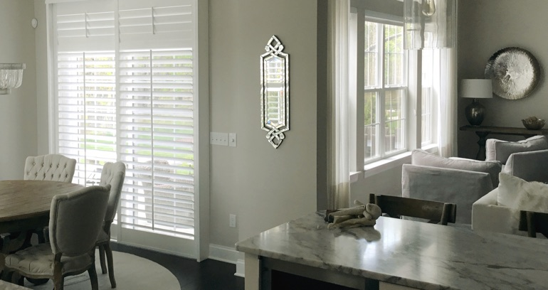 Southern California kitchen sliding glass door shutters