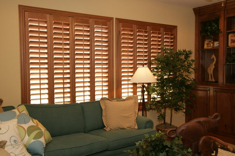 Ovation Shutters In A Southern California Living Room.