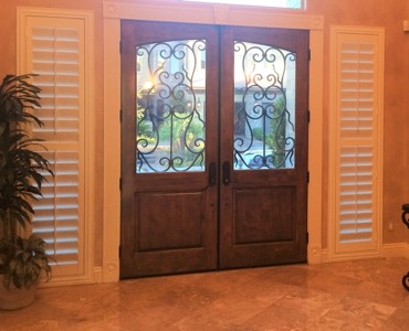 Southern California sidelight window treatment shutter