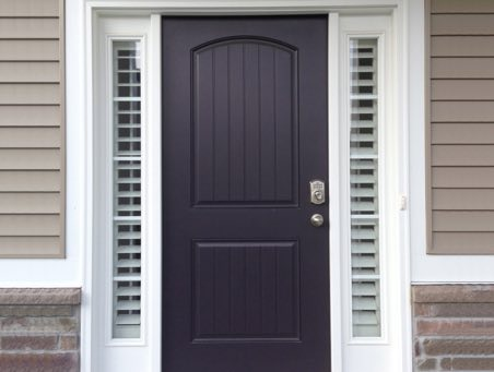 Southern California front door shutters