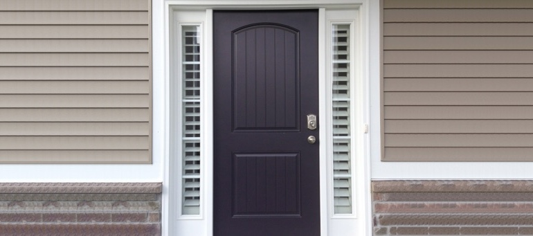 Entry Door Sidelight Shutters In Southern California